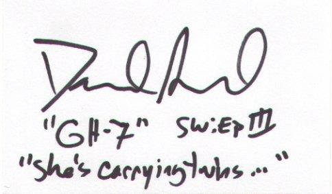 David Acord signed 3x5 (Star Wars GH-7 Medical Droid, Crew, Sound Editor))