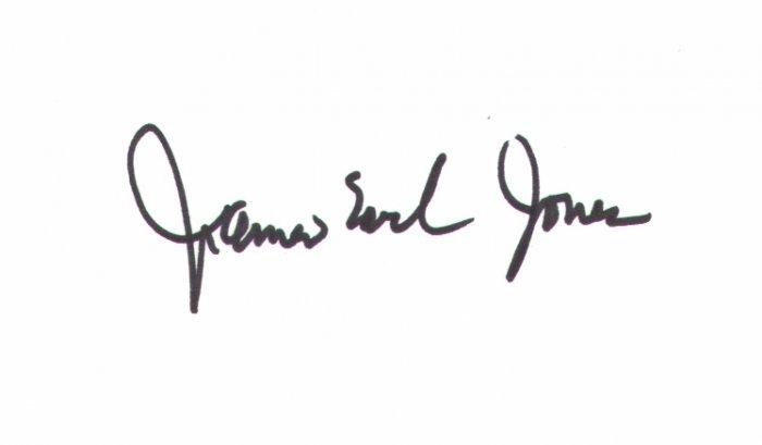 James Earl Jones signed 3x5 #8 (Star Wars:Voice of Darth Vader)