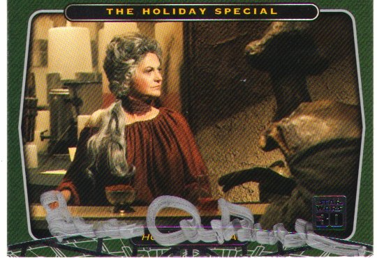Bea Arthur signed STAR WARS Card(Ackmena in Holiday Special)