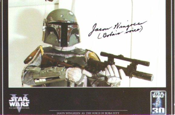 Jason Wingreen signed 4x6 #3 (Star Wars BOBA FETT VOICE)