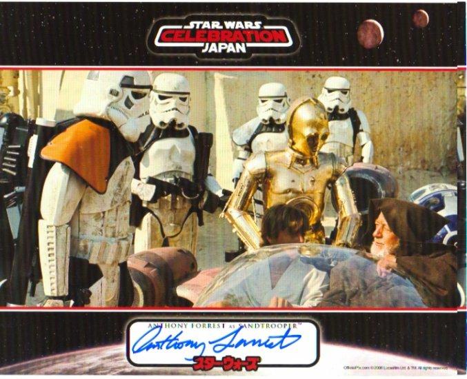 Anthony Forrest signed 8x10 (Sandtrooper, STAR WARS: A New Hope)
