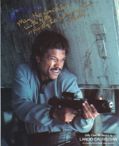 Billy Dee Williams signed 8x10