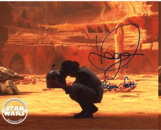 Daniel Logan signed 8x10 (Young BOBA FETT) #2 SDCC