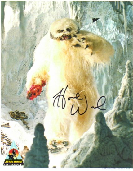 Howie Weed signed 8x10 (WAMPA, Empire Strikes Back