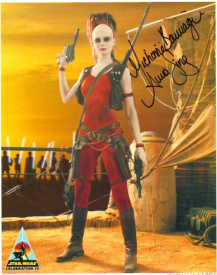 Michonne Bourriague autographed 8x10 (Aurra Sing)