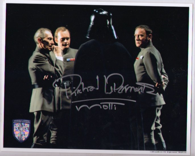 Richard Leparmentier autographed 8x10 (Admiral Motti Star Wars ANH)