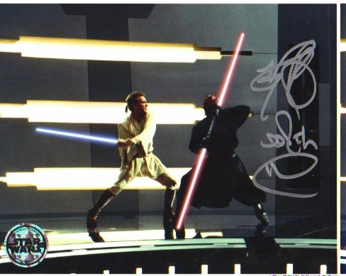 Ray Park autographed 8x10 (DARTH MAUL) #2