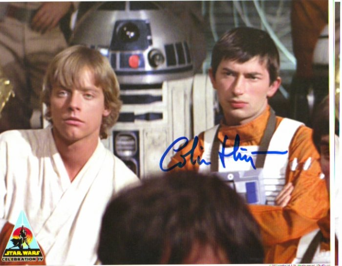 Colin Higgins autographed 8x10 (WEDGE, Star Wars ANH)