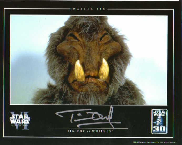 Tim Dry autographed 8x10 Master Pix (Whipid, Star Wars ROTJ)