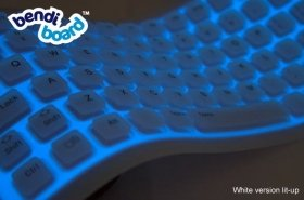 Bendiboard Light Up Keyboard USB or PS2