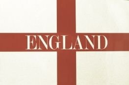 A4 Sized England Magnetic Football Flag