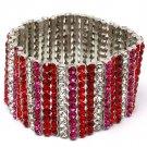 Red Bracelet Stretch Crystal Studs 1 1 2 Inch Width 11312-997741RDRED