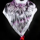 Purple Fashion Scarf Feather Fringe 100% Polyester 40 Inch X 40 Inch / 425630-719PUR