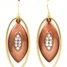 Clear Earring Fish Hook Crystal Studs Scratch Marks Navette Oval Hoop 2 Inch Drop 32528-10771TTCLR