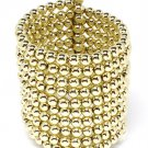 Gold Colored Bracelet Cuff Metal Ball 2 1 4 Inch Width 32228-75396GDGOD
