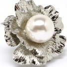 Cream Pendant And Brooch Pearl Flower 1 3 4 Inch Width 321628-75336RDCRM