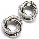 Silver Colored Earring Post Earring Metal Casting 25 Mm Width 25185-2019RDSIV