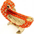 Coral Ring Adjustable Stretch Bead Duck 1 1 2 Inch Tall 251818-3006MGCOL