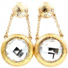 Clear Earring Post Earring Charndelier Drop Acrylic Stone Faceted Crystal Studs Scr 219205-3238AGCLR