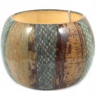 Gray Bracelet Bangle Natural Look Painted 2 1 2 Inch Width 21228-000GRY