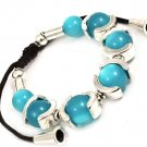 Turquoise Bracelet Cord Adjustable Marbles 12 Inch Long 210152-02417SOTUQ
