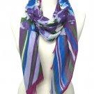 Purple Fashion Scarf Nautical Floral 21 Inch X 68 Inch / 524627-011PUR