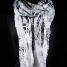 Gray Fashion Scarf Snake Print Scarf 100% Polyester 43 Inch X 71 Inch / 221636-213GRY