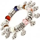Multi Colored Bracelet Bangle Charm Mixed Bead Flowers Rondelle Acrylic Stones Tex 210152-03087RDMLT