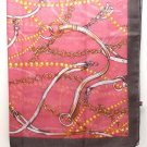 Pink Fashion Scarf 100% Polyester Chain 42 Inch X 48 Inch / 112166-99287PNK
