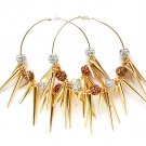 Multi Colored Earring Pin Catch Hoop Celebrity Inspired Fireball Spikes Horns Variou 11315-2181GDMTA