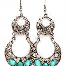 Turquoise Earring Fish Hook Metal Casting Crystal Studs Cresent Tear Drop Formica F 1214528-672SOTUQ