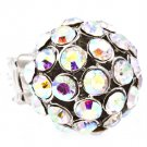 Aurore Boreale Ring Adjustable Stretch Metal Casting Crystal Studs 1 Inch Tall 171318-1163RDABO