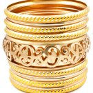 Yellow Bracelet Bangle Stackable Metal Casting Painted 2 3 4 Inch Width 13132-1823GDYEW
