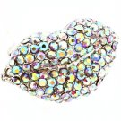 Aurore Boreale Ring Adjustable Stretch Crystal Studs Lips Pave Set 1 1 4 Inch Width 113118-1189RDABO