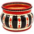 Red Bracelet Bangle Stackable Various Hoops Enamel 2 1 4 Inch Width 11612-1211AGRED