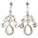 Clear Earring Post Earring Crystal Studs Tear Drop 2 Inch Drop 17135-22821RDCLR
