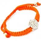 Orange Bracelet Cord Fireball Metal Casting 12 Mm Fireball 4 1 2 Inch Long 25182-20332ORG
