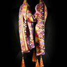 Multi Colored Fashion Scarf Various Patterns 100% Viscose 18 Inch X 72 Inch X 5 Inch 410166-99421MLT