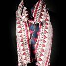 Fuschia Fashion Scarf Triangular Shapes 100% Viscose 18 Inch X 72 Inch / 410166-99711FSH