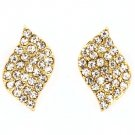 Clear Earring Post Earring Crystal Studs Leaf Pave Set 20 Mm Drop 415225-99316GDCLR