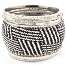 Animal Print Bracelet Bangle Stackable Faux Leather Crystal Studs Various Hoops Pron 11622-1120RDANI
