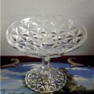 Mt.Vernon DEPRESSION Crystal Footed Candy Dish IMPERIAL