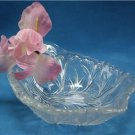 "CRYSTAL ""Twiggy"" By INDIANA Glass Handled NAPPY, 1950s"