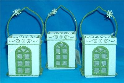 NEW VICTORIAN Window LUMINARIES Glass TEA LIGHT Candles