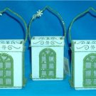 NEW VICTORIAN Window LUMINARIES Glass TEA LIGHT Candles