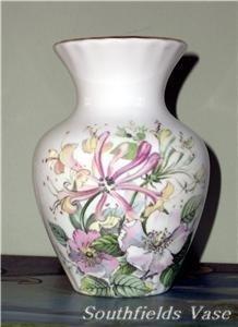 ELEGANT! SOUTHFIELDS Signed FINE BONE CHINA Vase FLORAL