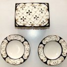 VINTAGE RETRO ITALIAN CERAMIC CIGARETTE BOX WITH 2 MATCHING ASHTRAYS