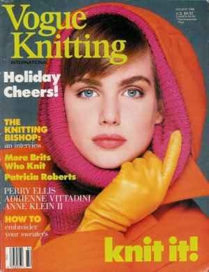 VOGUE KNITTING Holiday 1988 Sweaters Gifts Accessories