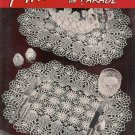 Vintage 40s PINEAPPLES DOILY DOILIES Crochet Patterns