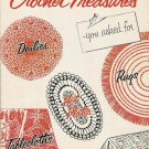 VINTAGE 50s DOILY BEDSPREAD TABLECLOTH CROCHET PATTERNS